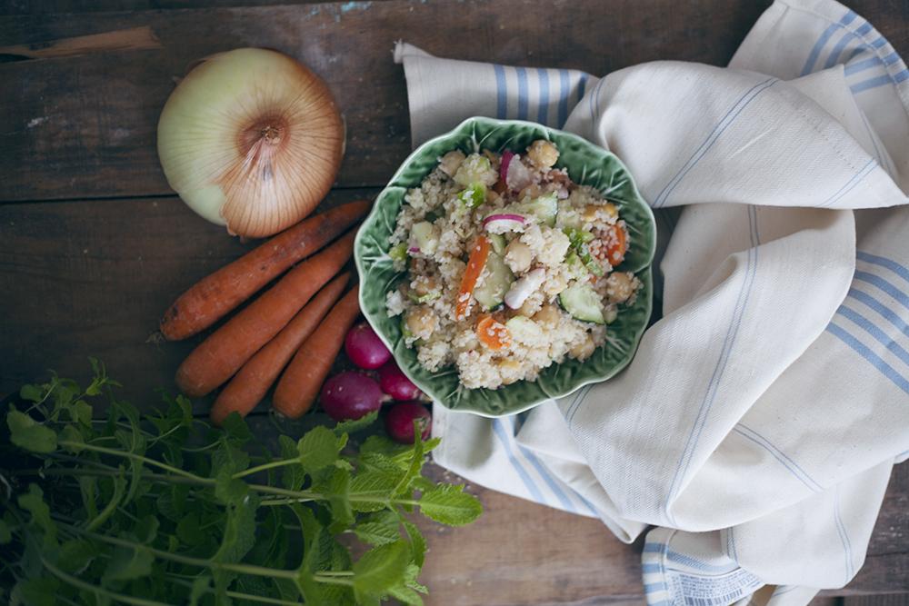 Bulgur con verduras y hierbabuena_LadyVegan